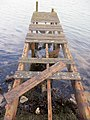 Dodgy jetty into the Solent off Yarmouth - Feb 2015 - panoramio.jpg