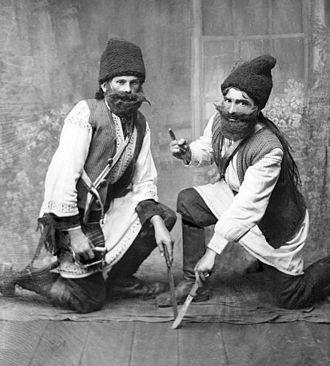 Călușari - Two călușari, photo by Costică Acsinte, c. 1930–1940