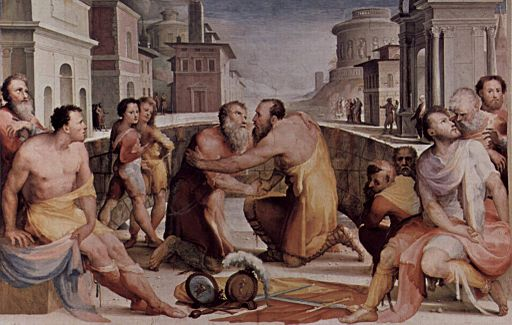Domenico Beccafumi, Riconciliazione di Emilius Lepido con Fulvio Flacco