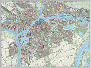 Dordrecht - Dutch Topographic map of Dordrecht, Sept. 2014