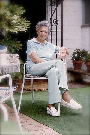 Dorothy Spencer -  Dorothy Spencer in her home in Encinitas, CA, June 1985