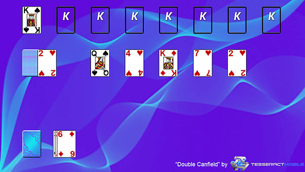 how to play double canfield solitaire