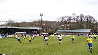Staines Town F.C. - Staines (yellow shirts) playing Dover Athletic in 2009