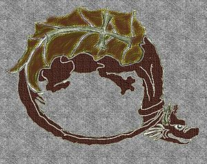 Order of the Dragon - Reconstruction of the order patch (I) based on existing Austrian museum artifacts.