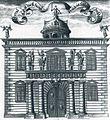 Dresden Portal Schlossgasse Residenzschloss Kupferstich aus der Weckschen Chronik 1680 Löffler, Bildnr. 39.jpg