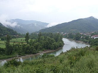 Angling records of Europe - Drina River in Foča-Ustikolina municipality, East Bosnia. Venue for the capture of the 58 kg European record Huchen(hucho hucho) in 1938