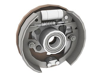 Brake - Rendering of a drum brake
