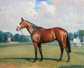Dunaden - Dunaden: 2011 Melbourne Cup winner, painted by Charles Church