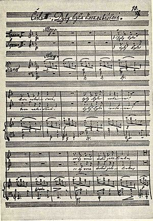 """Moravian Duets - Dvořák's autograph score of """"Dyby byla kosa nabróšená"""" from Moravian Duets"""