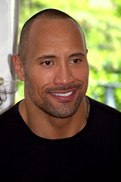 Dwayne The Rock Johnson trees portrait 2009.jpg