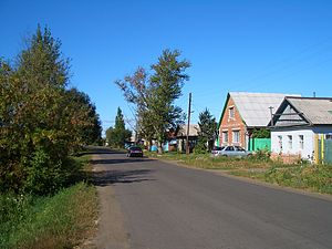 Demographics of Siberia - Cherlak, a typical small town - or a large village - in Western Siberia