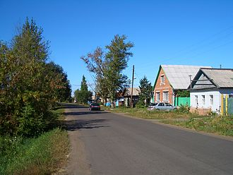 Demographics of Russia - Cherlak, a typical small town – or a large village – in Western Siberia