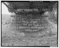 EAST ABUTMENT, LOOKING EAST. - Lea Bridge, Spanning Candies Creek at Old Georgetown Road, Hopewell, Bradley County, TN HAER TENN,6-HOPE.V,1-13.tif