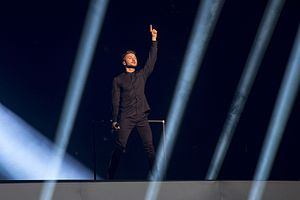 Russia in the Eurovision Song Contest 2016 - Sergey Lazarev during a rehearsal before the first semi-final