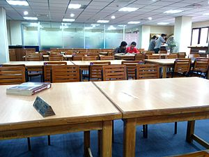 East West University - The readers area in the library
