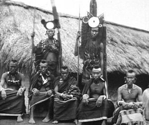 Naga people - A photo of Naga taken in the 1870s