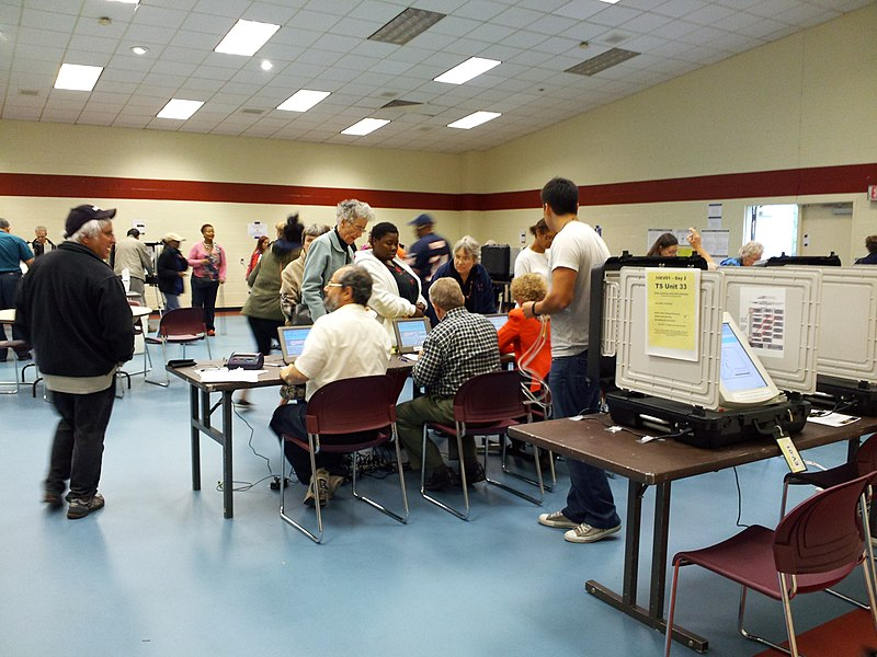 File:Early voting at Bauer Drive Community Recreation Center.jpg