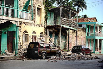 2010 Haiti earthquake - Damaged buildings in Jacmel