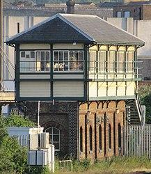 Eastbourne signal box, Junction Road, Eastbourne (NHLE Code 1413815) (June 2015) (5).JPG