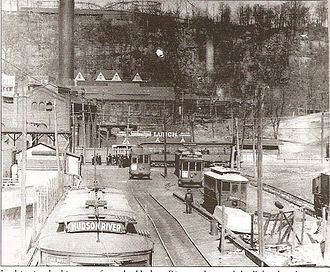 Transport of New Jersey - Edgewater trolley terminal, early 20th century