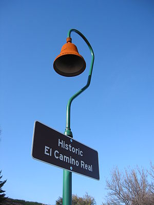 California State Route 82 - Historic El Camino Real marker in Santa Clara