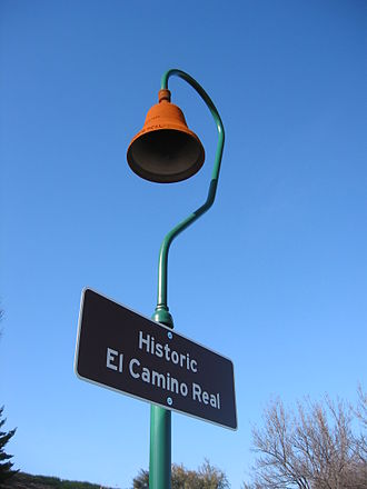 El Camino Real (California) - A historical marker situated along El Camino Real.