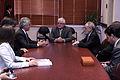 El presidente de la Asamblea Nacional, Fernando Cordero Cueva, recibió la visita de Diego García Sayán, Leonardo Franco y Pablo Saavedra, presidente, vicepresidente y secretario de la Corte (5187415733).jpg