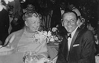 With Frank Sinatra, 1960