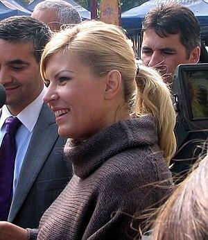 Elena Udrea - Udrea on a visit to Sinaia in 2009