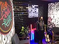 Elis Paprika on the set of El Show De Now Girls Rule on Vans Channel 66 in Mexico City in 2021.jpg