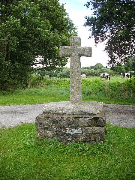Cross near the Saint Clement chapel in Elven (Morbihan, France)