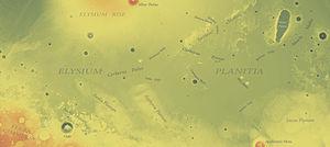 Elysium Planitia - Image: Elysium Planitia topo