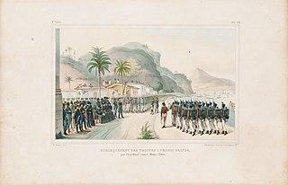 Embarquement des troupes a Prahia Grande, pour l´Expédition contre Monte-Video