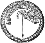 Emblem der von Gesner gegründeten Deutschen Gesellschaft in Göttingen (Quelle: Wikimedia)