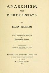 Emma Goldman: Anarchism and Other Essays