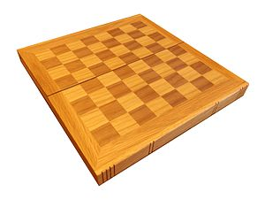 Chessboard - Image: Empty wooden chessboard