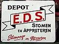Enamel advertising sign, EDS, Stoppage en Plisseren.JPG