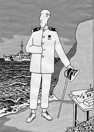 Ensign Bafflestir - Ensign Bafflestir by artist Ron Marlett