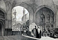 Enterance college mother of Shah Sultan Hussein by Eugène Flandin.jpg