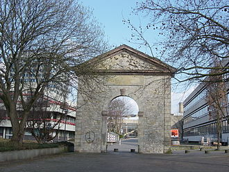 Science in the Age of Enlightenment - The old entrance to the University of Göttingen