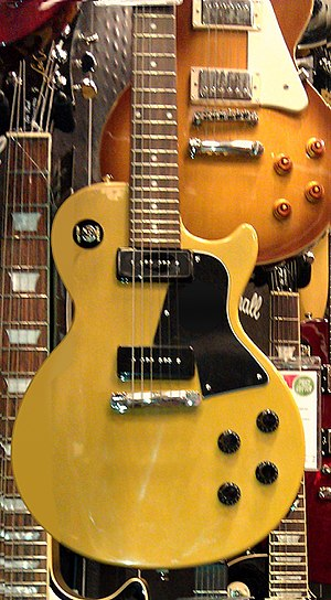 Gibson Les Paul Special - Image: Epiphone Les Paul Special Single Cut TV Yellow (modified as 1956 stopbar model)