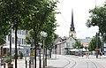 Erfurt, Blick vom Mainzerhofplatz zur Kirche St. Martini.jpg
