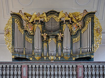 Pipe organ of the old town parish church in Erlangen