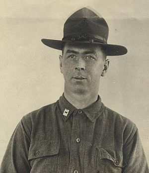 Ernest R. Redmond - Redmond as Captain commanding Battery E, 101st Field Artillery in World War I