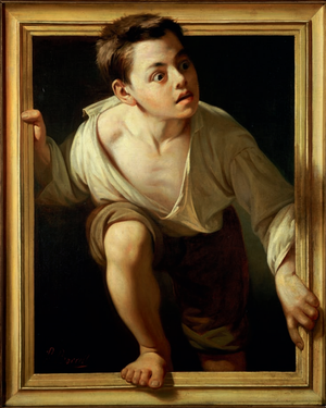 Pere Borrell del Caso - Escaping criticism. From 2002 to 2011, this painting went on an international tour, visiting exhibitions devoted to trompe l'oeil in Sweden, Germany, Italy, Japan and the United States