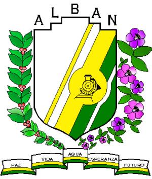 Albán, Cundinamarca - Image: Escudo Alban
