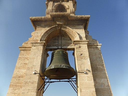 Espadaña de la Torre del Micalet o Miguelete, de la Catedral de Valencia (España).