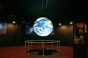 Science On a Sphere - SOS in the Planet Theater at the NOAA Earth System Research Laboratory in Boulder, CO