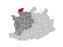 Location of Essen in the province of Antwerp