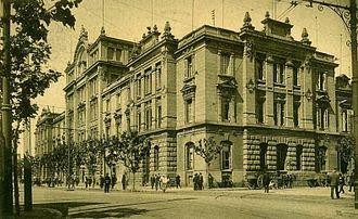 Avenida Pueyrredón - Once railway station.